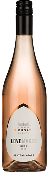 GIBBSTON HIGHGATE ESTATE LOVE MAKER CENTRAL OTAGO ROSE 2018