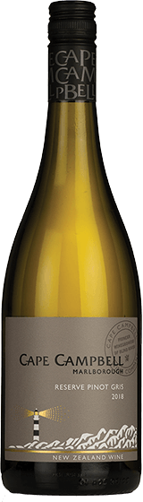 CAPE CAMPBELL RESERVE MARLBOROUGH PINOT GRIS 2018